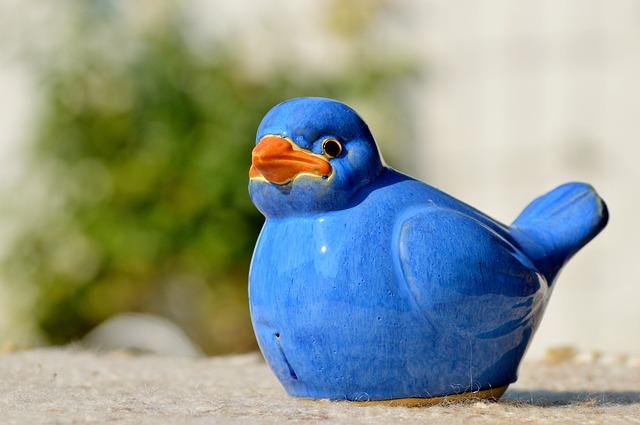 keramický pták
