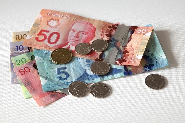 peníze, bankovky, mince
